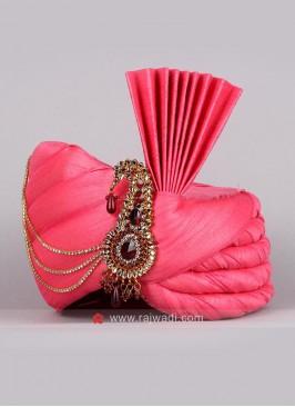 Plain Pink Color Art Silk Fabric Safa
