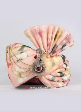 Light Pink Color Wedding Safa