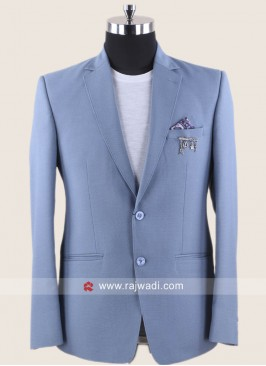 Plain Sky Blue Color Blazer