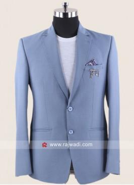 Plain Sky Blue Color Blazer