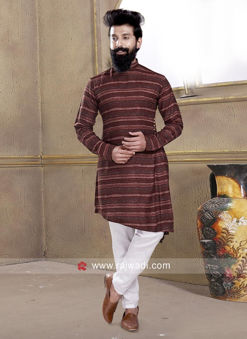 Attractive Maroon Pathani Suit