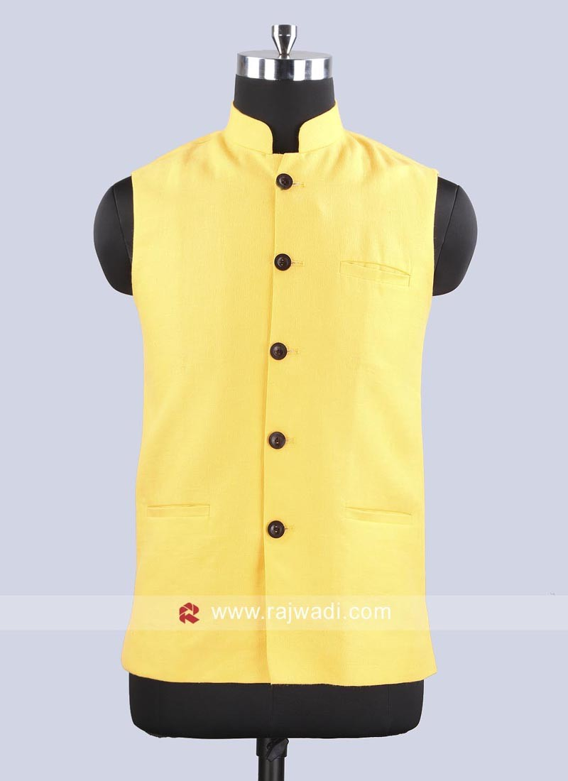 Plain Yellow Color Koti