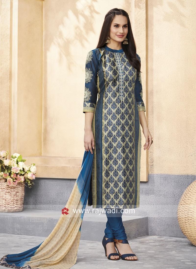 Resham work Salwar Kameez
