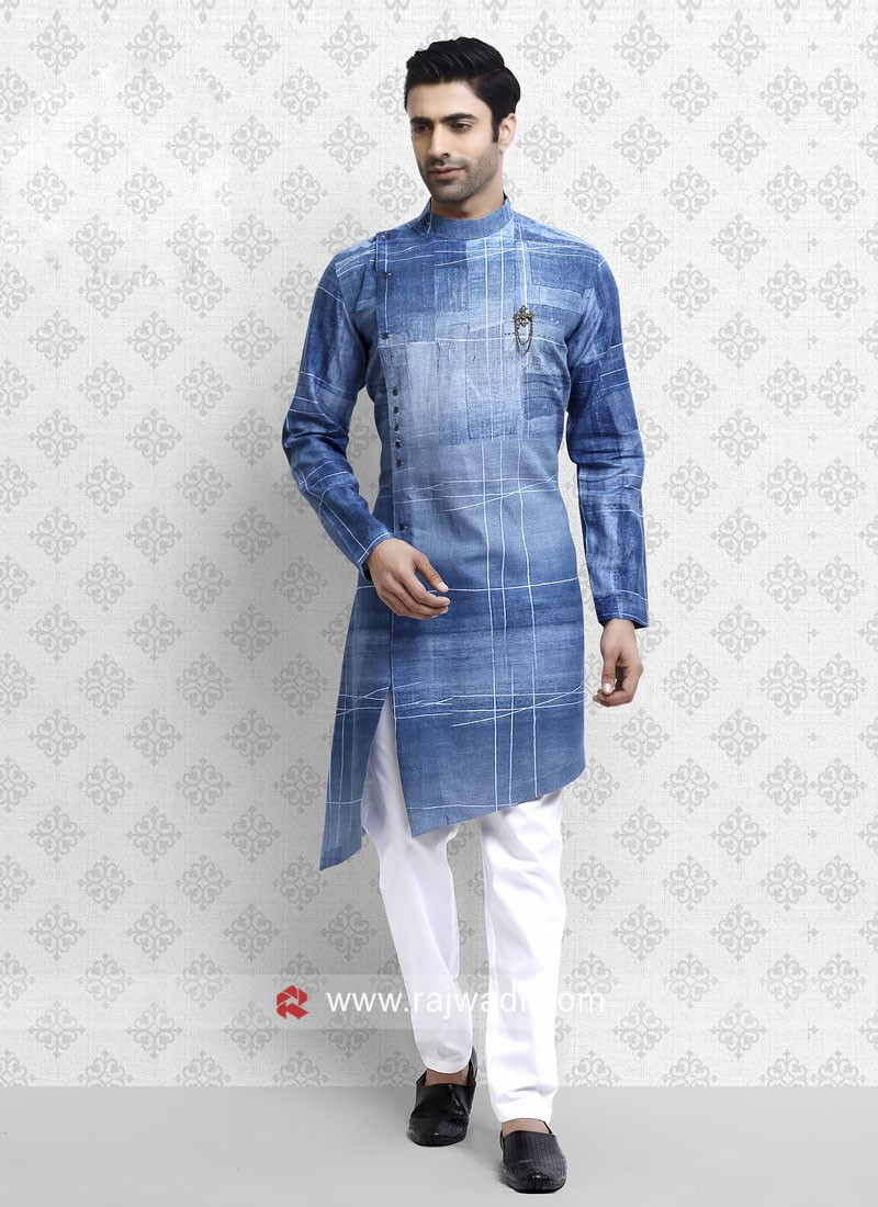 Pleasant Cotton fabric Pathani Suit for Men
