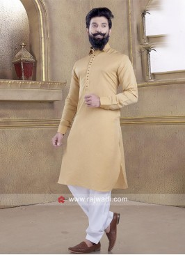 Pleasant Satin Silk fabric Pathani Suit