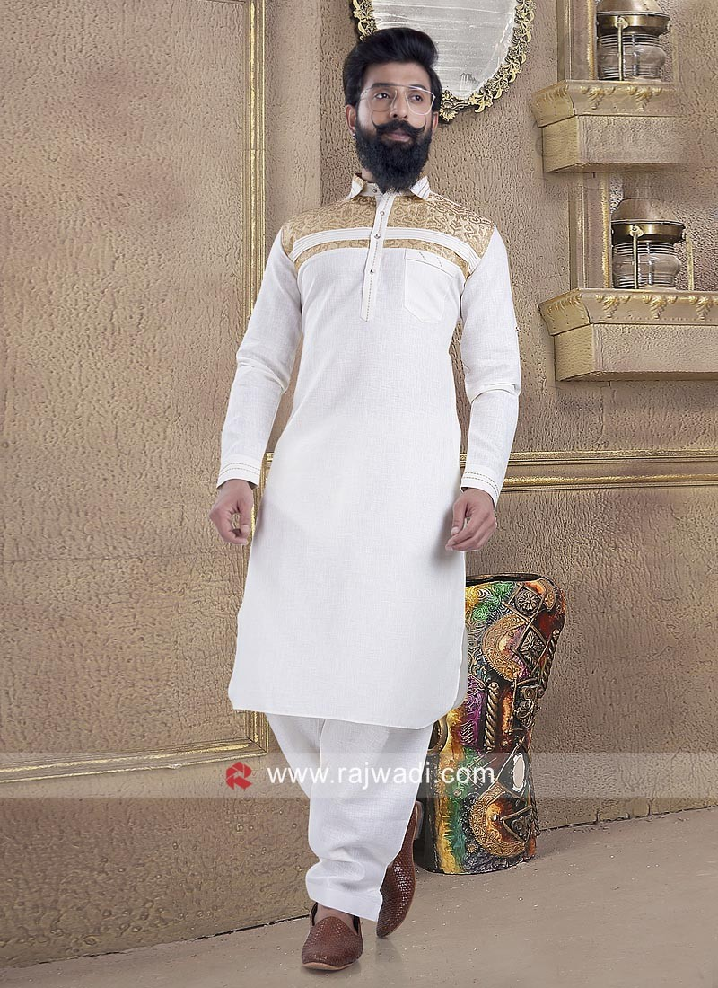 Pleasant Linen fabric Pathani Suit for Men
