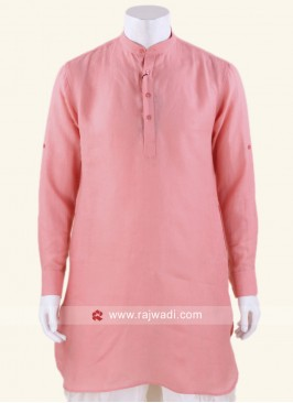Pleasant Linen fabric Peach Kurta
