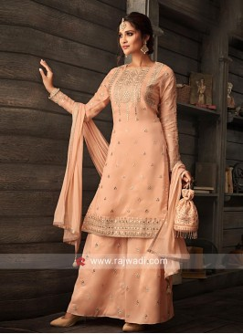 Pleasant Peach Gharara Suit