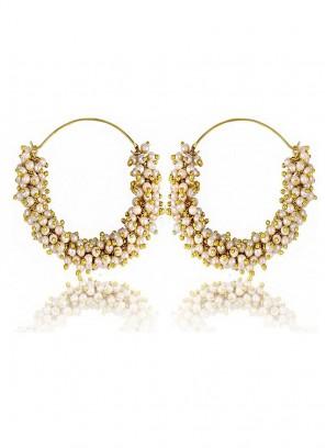 Polki Meenakari Earrings