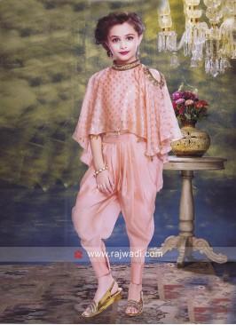 Poncho Style Kids Dhoti Salwar Kameez