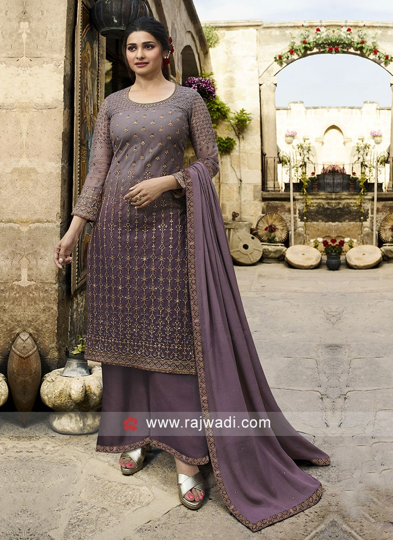 Prachi Desai Magenta Dress Material