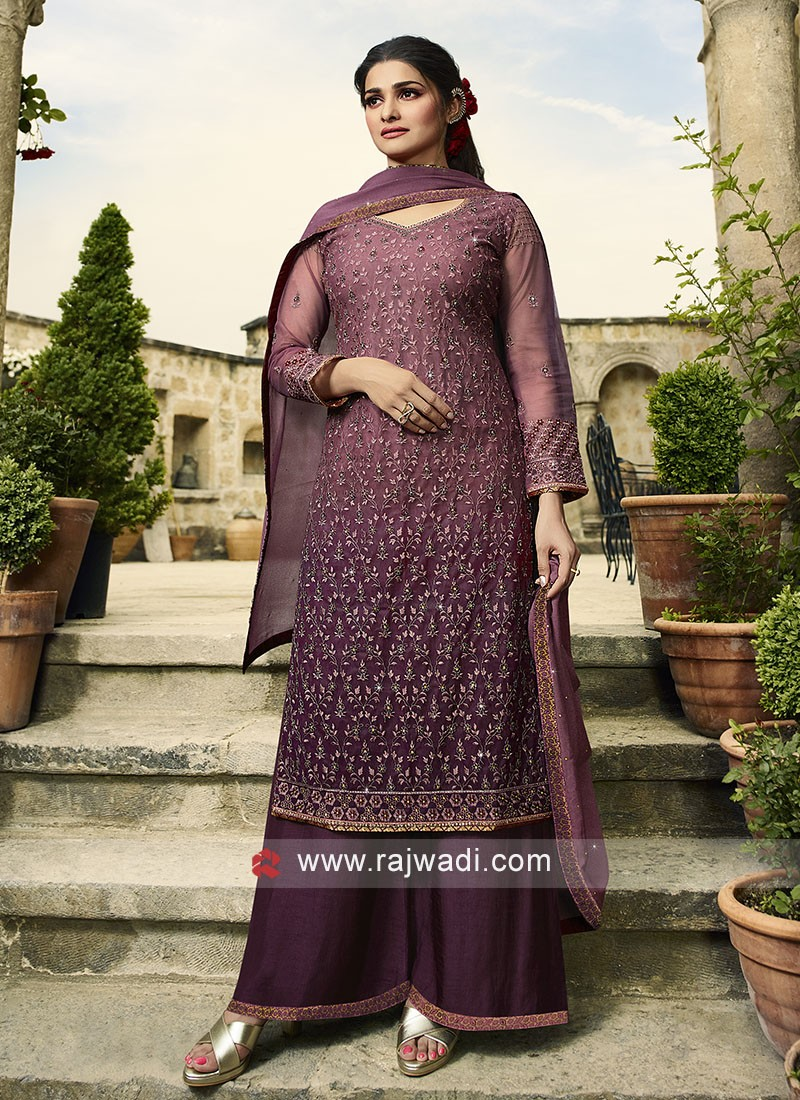 Prachi Desai Magenta Salwar Suit For Party