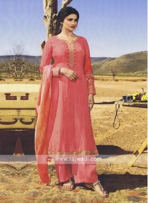 Prachi Desai Peach Palazzo Style Salwar  Suit