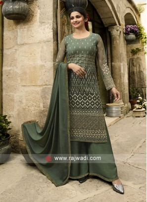 Prachi Desai Resham and Stone Work Salwar Suit