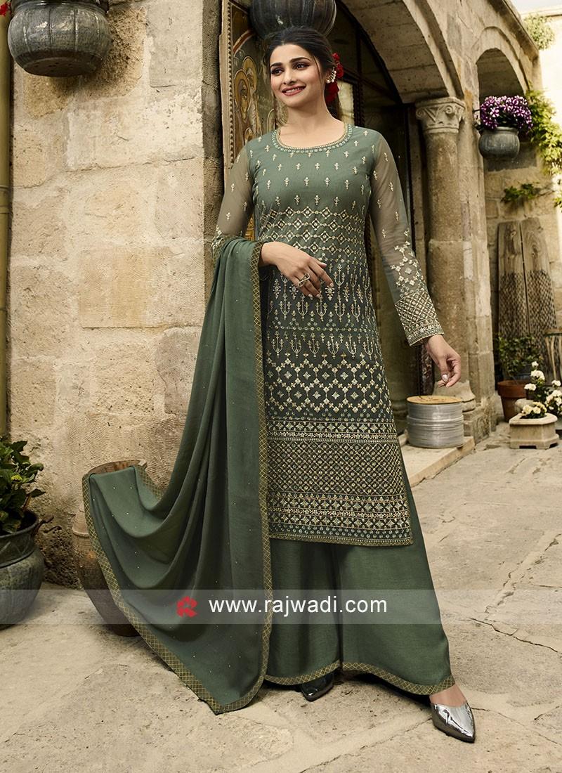 Prachi Desai Resham and Stone Work Salwar Suit