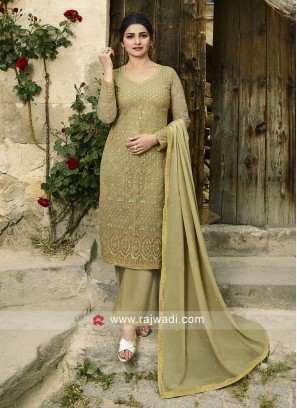 Prachi Desai Resham Work Salawar Suit
