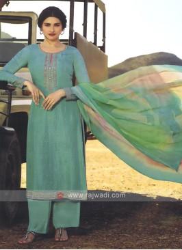 Prachi Desai Sea Green Palazzo Style Salwar Suit