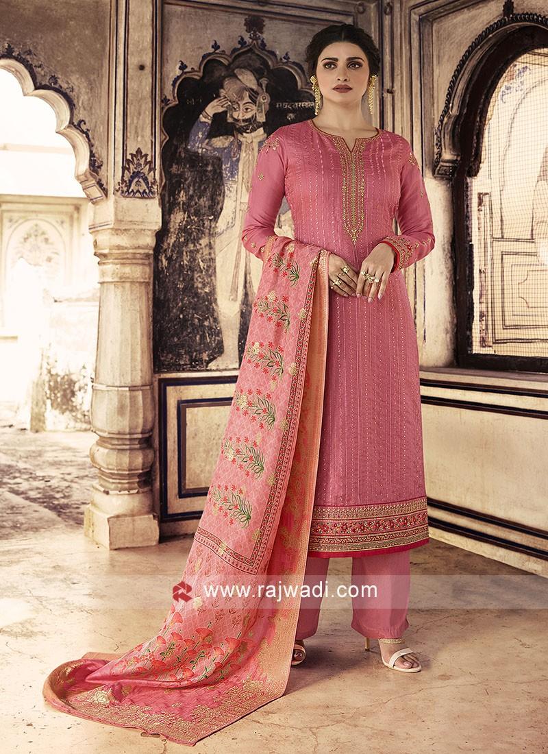 Prachi Desai Silk Salwar Suit
