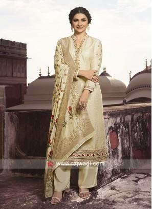 Prachi Desai Unstitched Silk Salwar Kameez