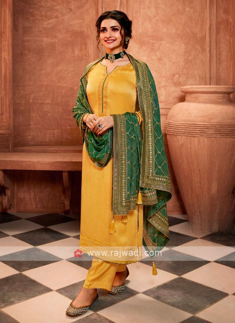 Prachi Desai In Yellow Salwar Kameez