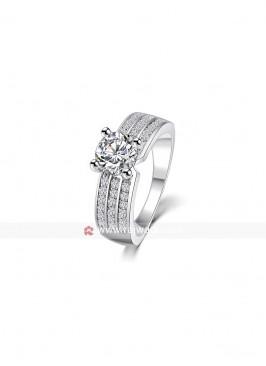 Premium Cubic Zirconia Silver Ring