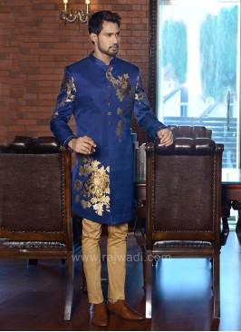 Printed Art Silk Indo Western