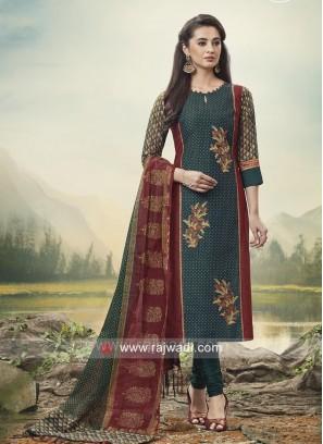 Printed Casual Churidar Suit