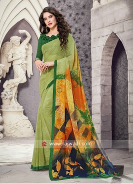 Printed Casual Saree in Multicolor