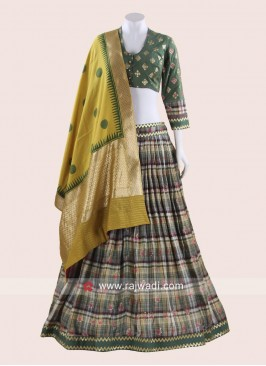 Printed Choli suit with Dupatta