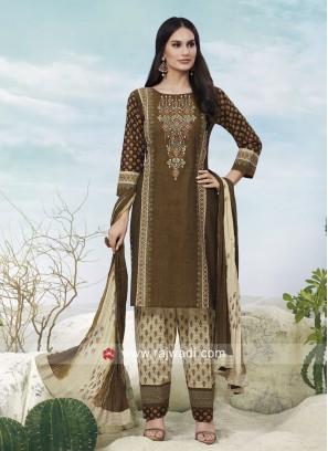 Printed Cotton Casual Salwar Suit