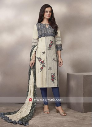Printed Cotton Churidar Suit