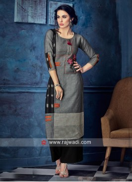 Printed Cotton Kurti with Sleeves