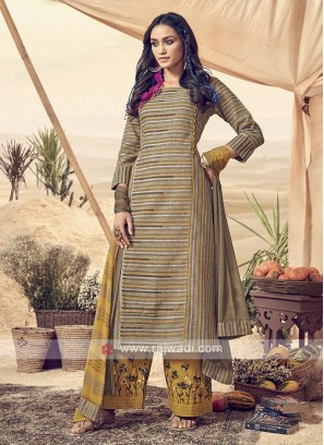 Printed Cotton Palazzo Suit