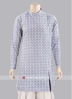 Printed Cotton Silk Kurta