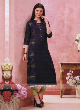 Printed Cotton Silk Kurti