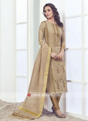 Printed Cotton Silk Salwar Suit