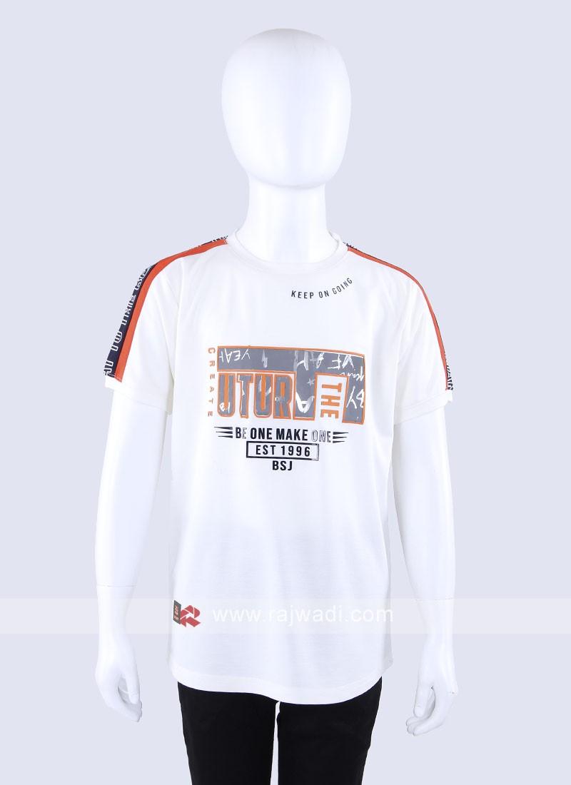 Printed Cream T-Shirt