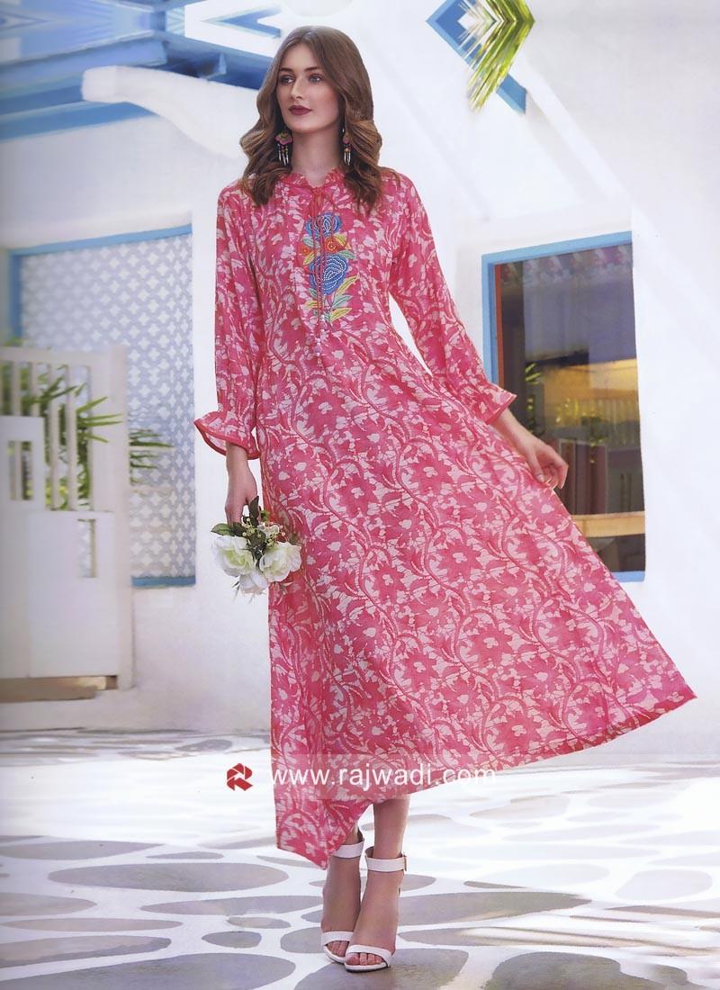 Printed Crepe Silk Tunic