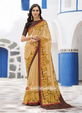 Printed Designer Casual Saree