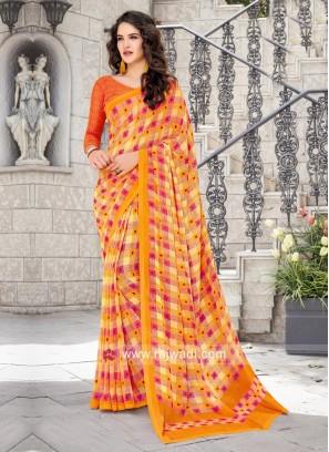Printed Designer Casual Saree