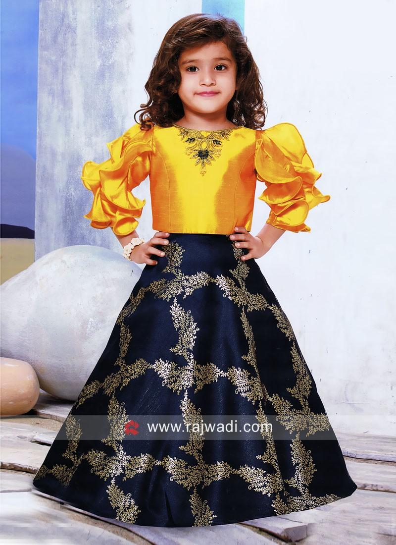 Printed Designer Choli Suit for Kids
