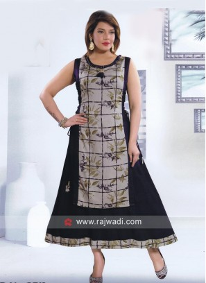 Printed Double Layered Kurti