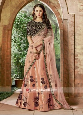 Printed Embroidered Lehenga Set