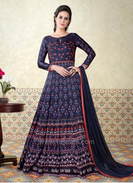 Printed Full Length Semi Stitched Salwar Set
