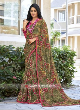 Printed Georgette Light Weight Casual Sari