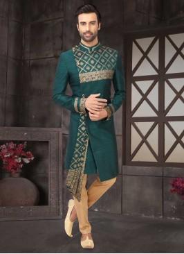 Zari Printed Indo-Western For Wedding