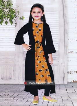 Printed Jacket Style Suit for Girls