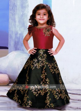 Printed Kids Choli Suit with Dupatta