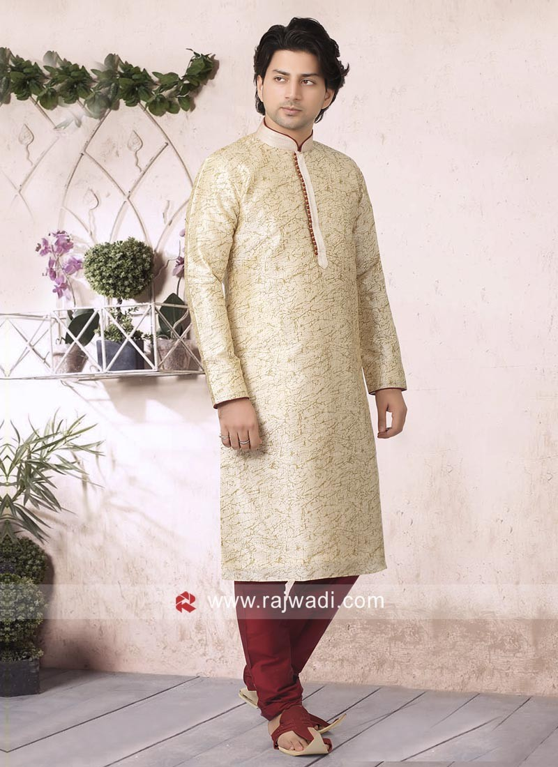 Charming Cream Kurta Pajama