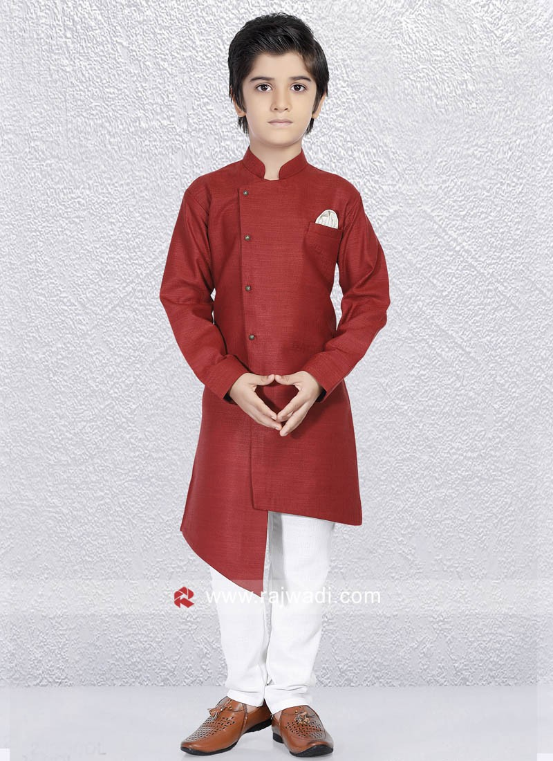 Charming Maroon Kurta Set